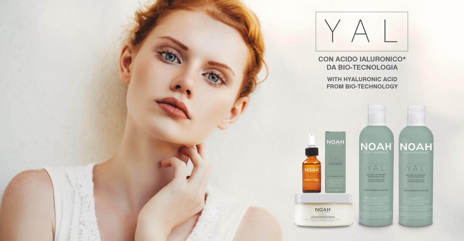 NOAH prodotti naturali per capelli con acido ialuronico