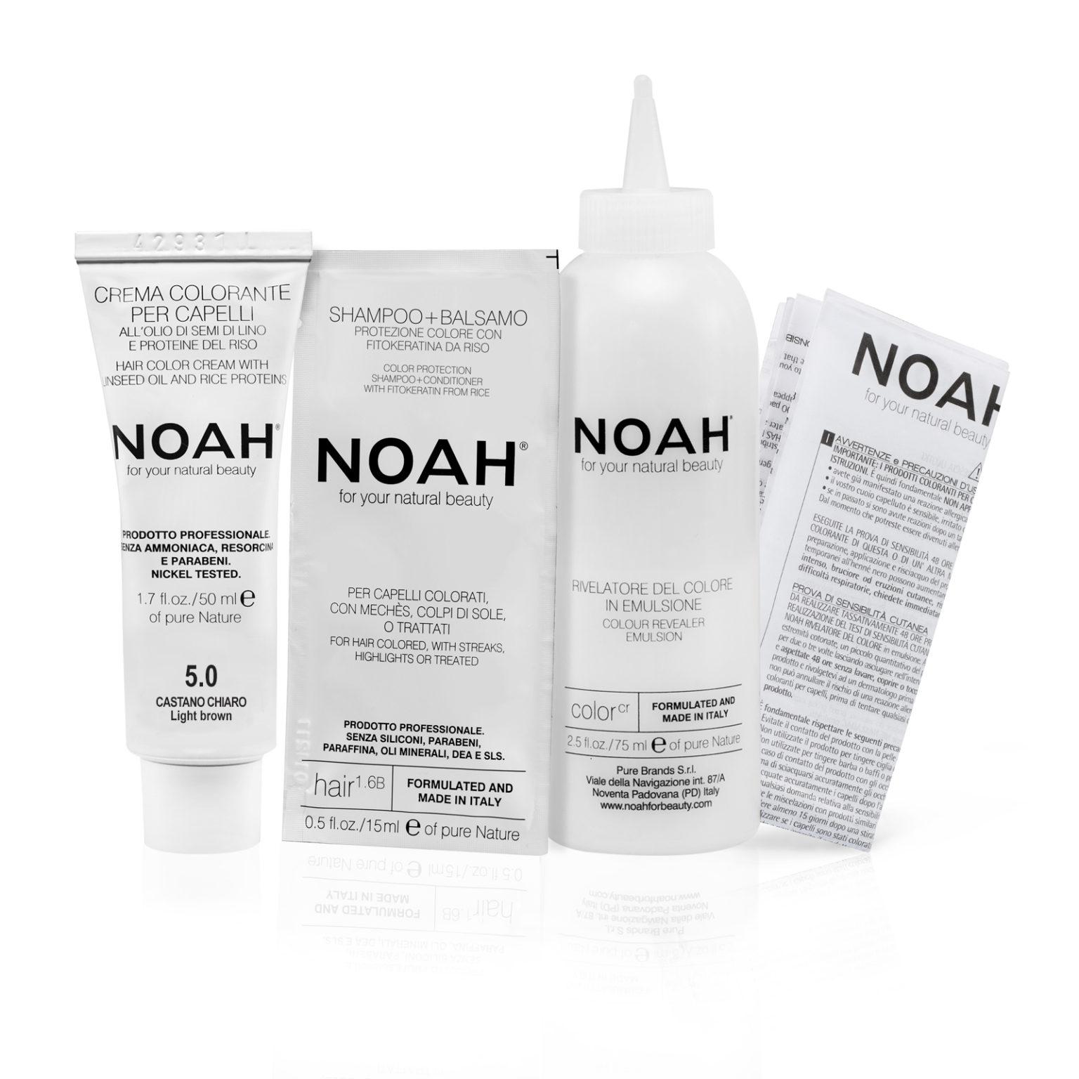 Tinta per capelli castano chiaro Color 5.0 NOAH