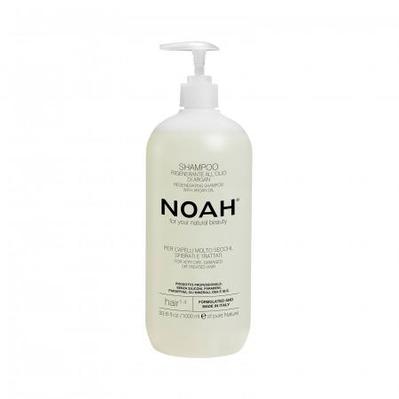 Prodotti naturali per capelli danneggiati - Prodotti naturali per capelli lisci - Prodotti naturali per capelli secchi - Shampoo rigenerante per capelli molto secchi NOAH 1000ml