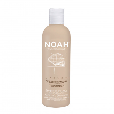 Prodotti naturali per capelli danneggiati - Shampoo Leaves Anti-age rinforzante alle foglie di ginkgo biloba
