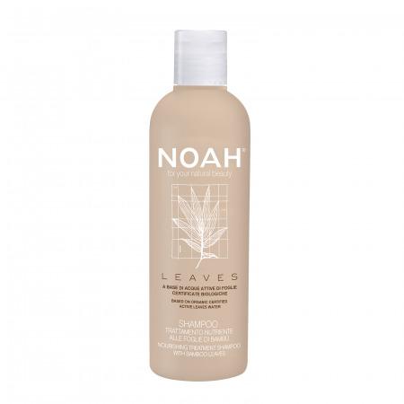 Prodotti naturali per capelli danneggiati - Shampoo Leaves nutriente alle foglie di bambù